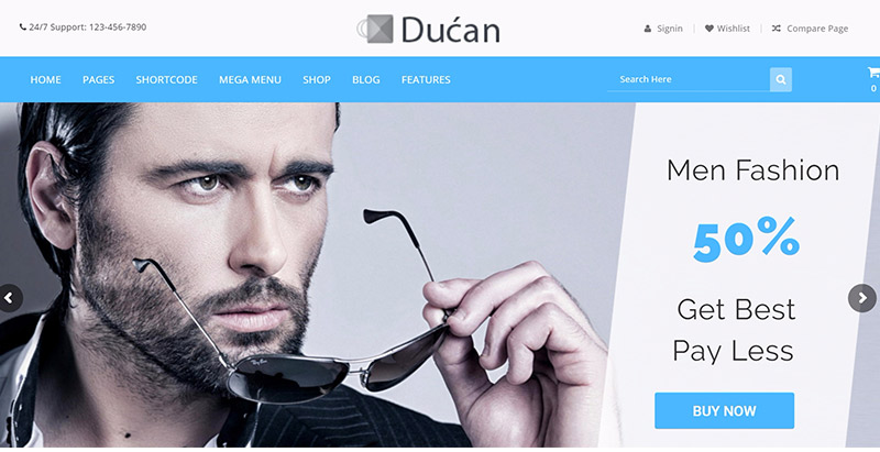 Ducan themes wordpress creer site web ecommerce woocommerce