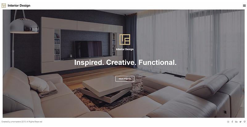 Interior design themes wordpress creer site web architecte architectes architecture