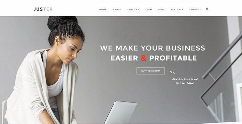 Juster themes wordpress creer site web agence marketing