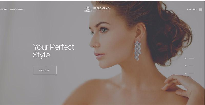créer le site web d'une bijouterie ou de vente de bijoux -Pablo guadi