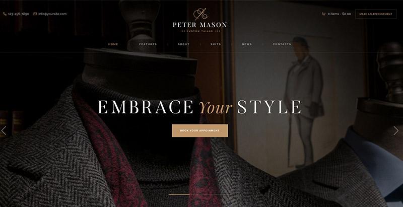 Peter mason themes wordpress creer site web e commerce lingerie