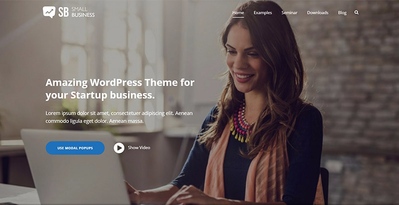Small business themes wordpress creer site web entreprise agence cabinet