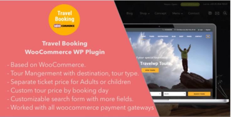 Travel booking woocommerce wordpress plugins wordpress site web voyages