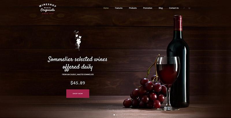 Wineshop themes wordpress creer site web vente vin viticulture