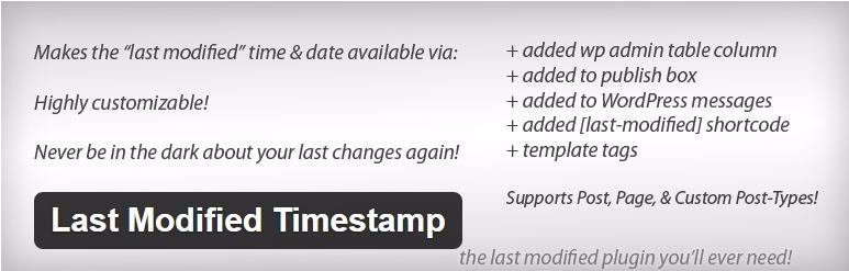 Last modified timestamp plugin wordpress