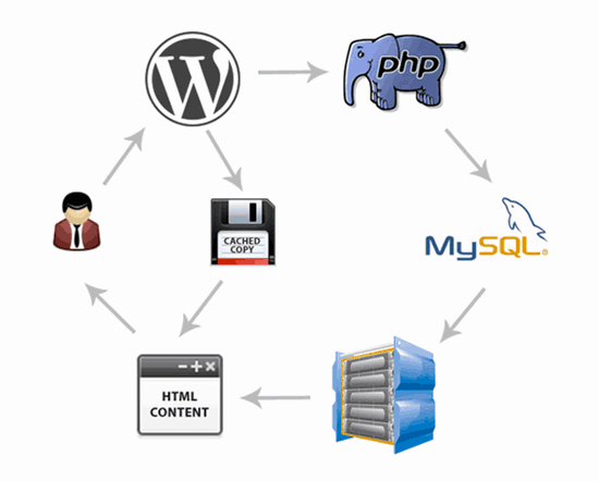 Mise en cache processus wordpress