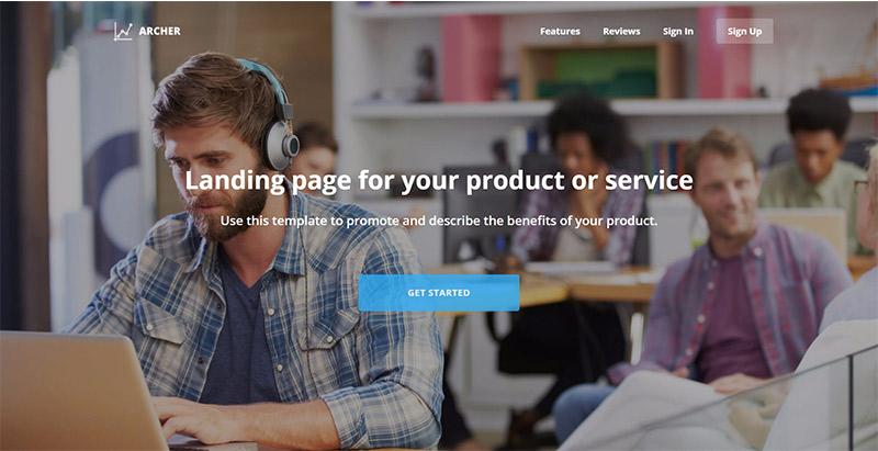 Archer chủ đề wordpress tạo trang web công ty khởi động SME agency
