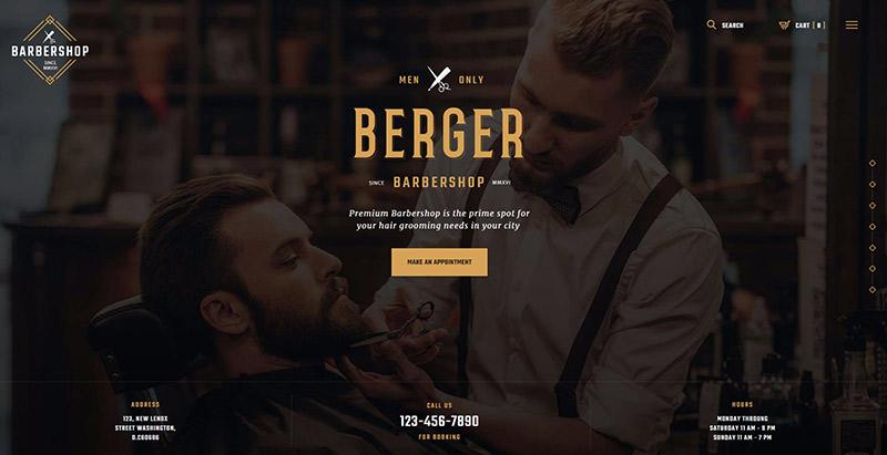 Berger themes wordpress creer site web salon coiffure spa beaute