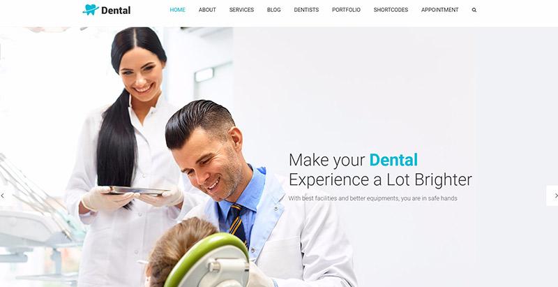 Dental health themes wordpress creer site web clinique hopital centre sante dispensaire