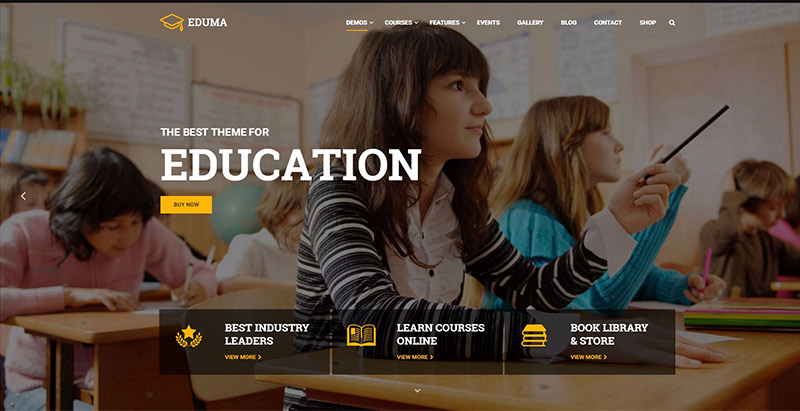 Education wp themes wordpress creer site web elearning education enseignement apprentissage