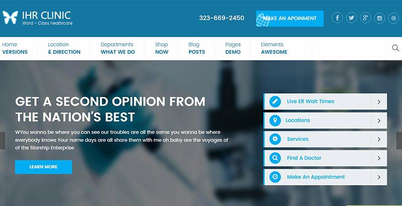 10 WordPress temas para crear la página web de una clínica | BlogPasCher