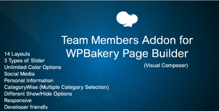 Jag team member addon for wpbakery page builder visual composer