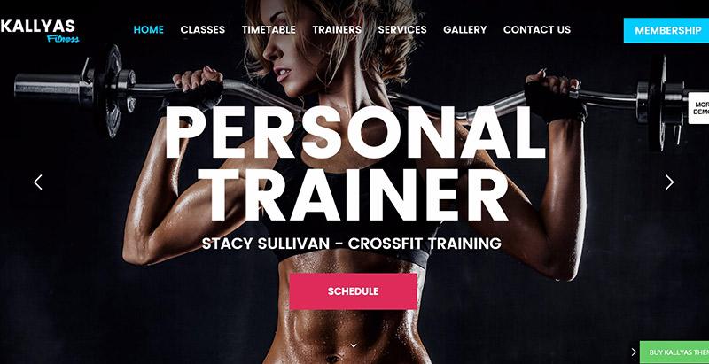 Kallyas themes wordpress creer site web fitness sport yoga athlete equipe