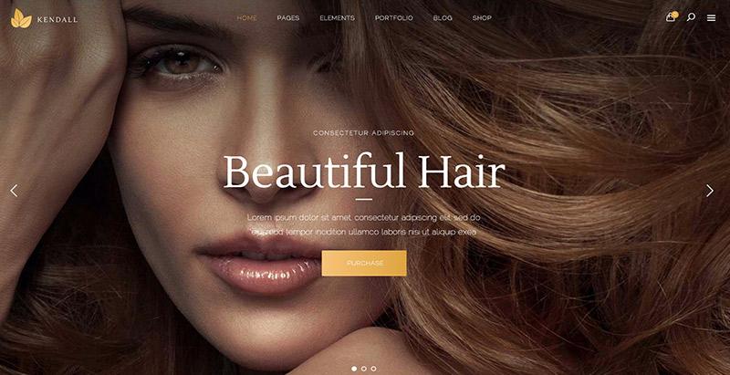 Kendall themes wordpress creer site web salon coiffure spa beaute