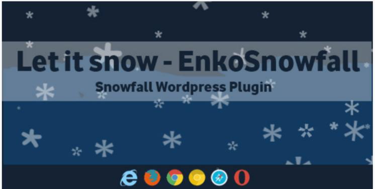 Hãy để nó tuyết enkosnowfall plugin tuyết rơi của wordpress