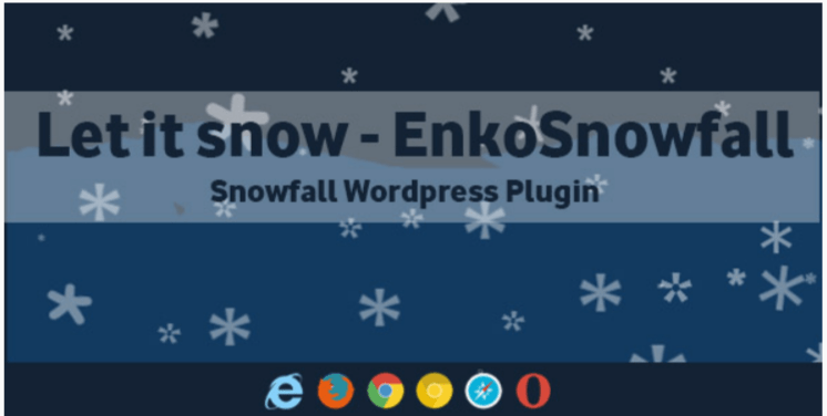 Let it snow enkosnowfall wordpress snowfall plugin
