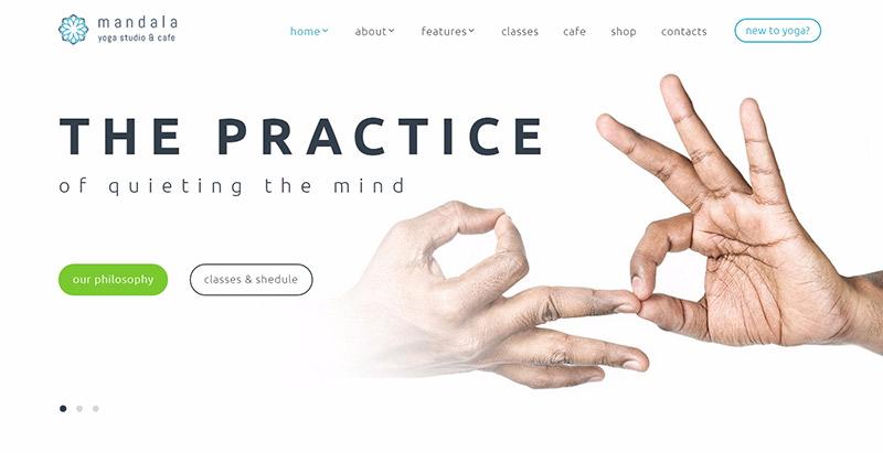 Mandala themes wordpress creer site web spa salon massage beaute