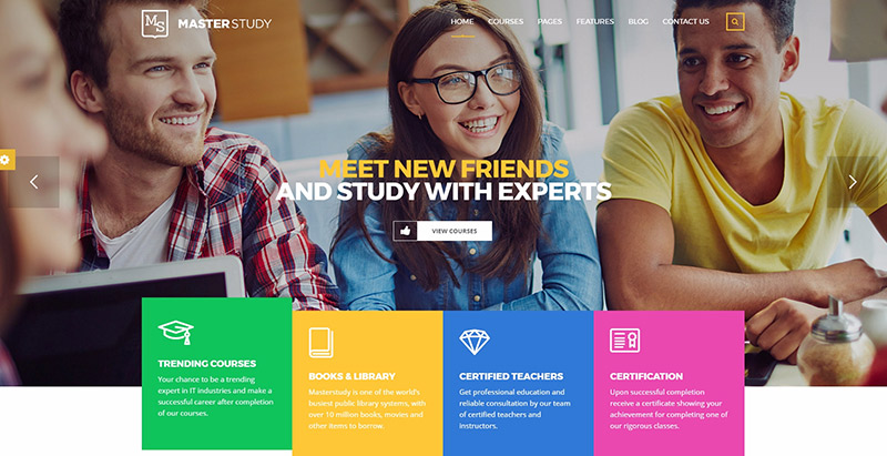 Masterstudy themes wordpress creer site web elearning education enseignement apprentissage
