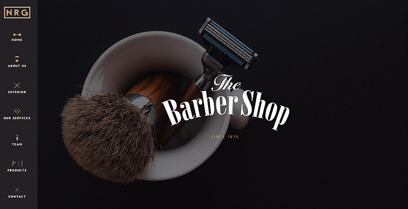 Nrg barbershop themes wordpress creer site web salon coiffure spa beaute