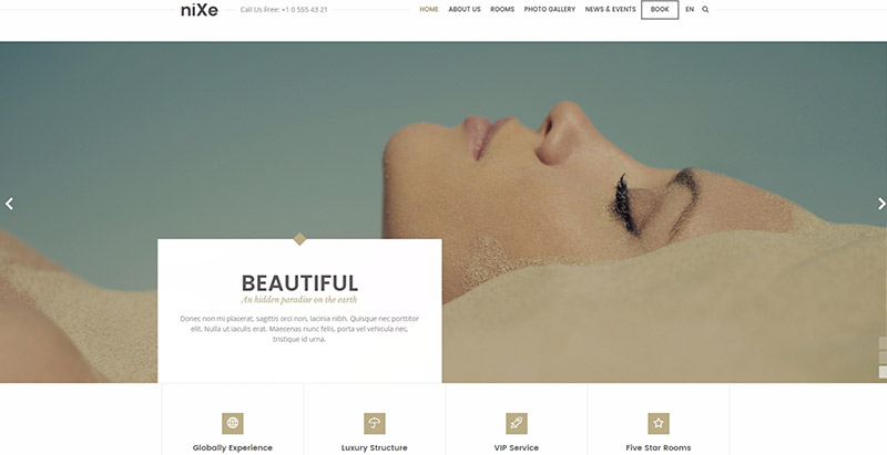 Nixe themes wordpress creer site web spa salon massage beaute