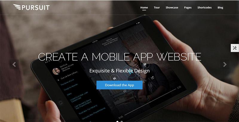 Pursuit themes wordpress creer site web startup technologique