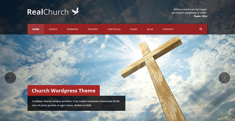 Real church themes wordpress creer site web eglise religion