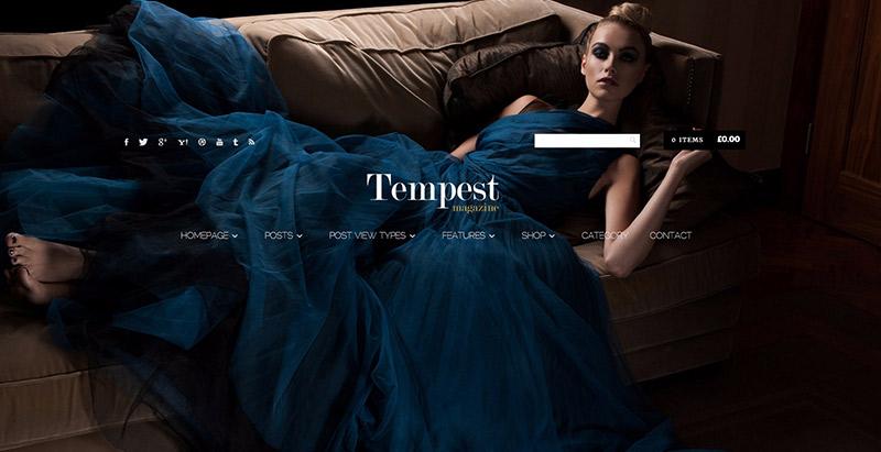 Tempest themes wordpress creer boutique ligne vetements ecommerce woocommerce