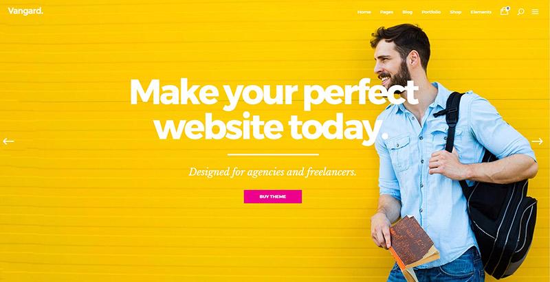 Vangard 10 themes wordpress creer site web freelance