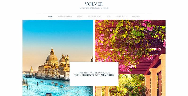 Volver themes wordpress создать сайт отель туристическое агентство туризм