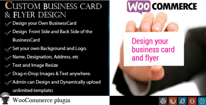 Woocommerce business card flyer design