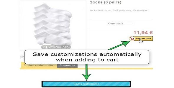 Advanced customizations plugin prestashop pour personnalisation produit