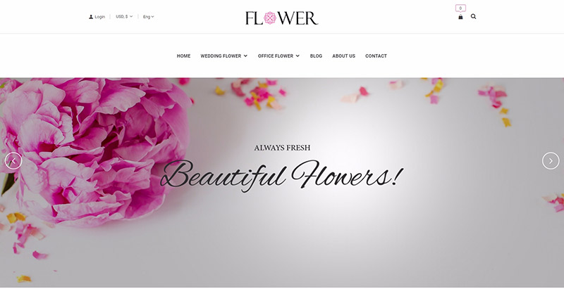 Creative flower themes wordpress creer site web fleuriste jardinier