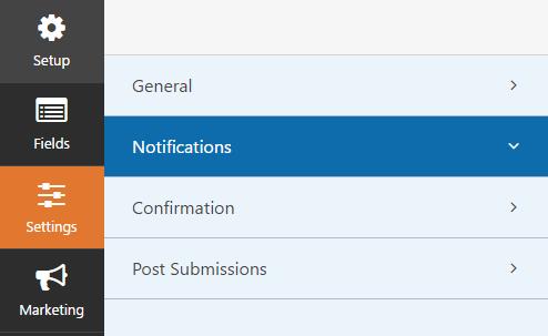 Notification wpforms