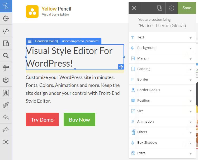 Option de personnalisation supplémentaire sur yellow pencil