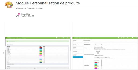 Products customization plugin prestashop pour personnalisation produit
