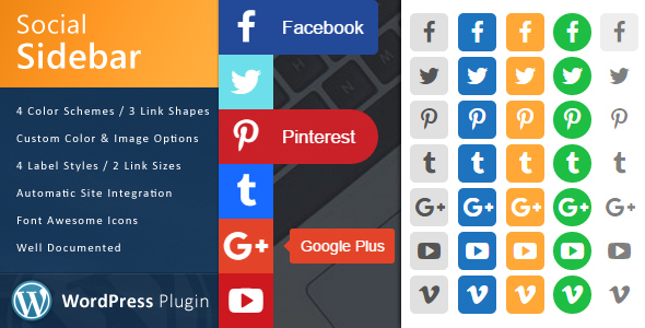 Social sidebar plugin wordpress pour footer
