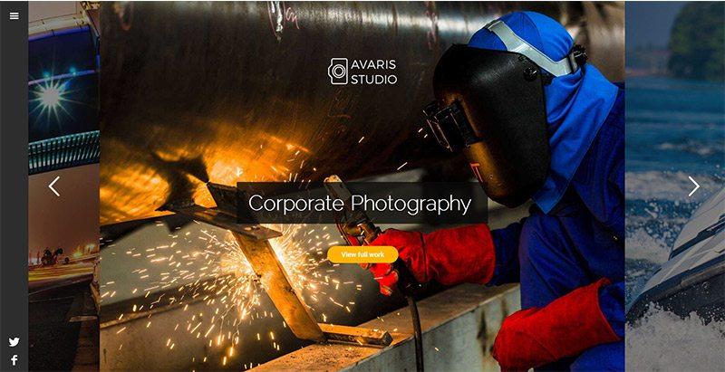 créer un site Web de photographe - Avaris