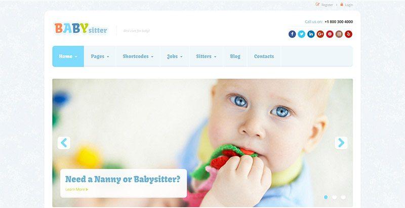 Babysitter themes wordpress creer site web offres emploi