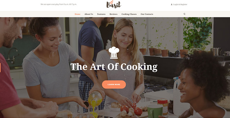 Basil themes wordpress pour creer un site web educatif elearning formation