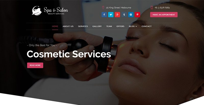 Beauty and spa themes wordpress creer site web salon beaute