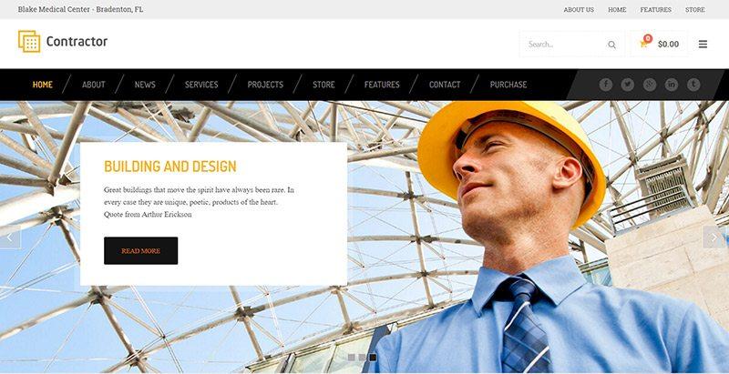 10 temas de WordPress para el sector de la construcción | BlogPasCher
