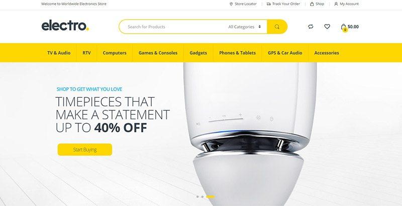 Electro themes wordpress creer site ecommerce multi vendeurs boutique en ligne