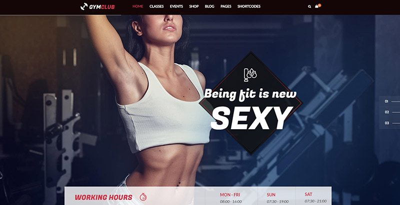 Temas do Clube de Ginástica Wordpress Criar Website do Clube de Fitness Ginásio