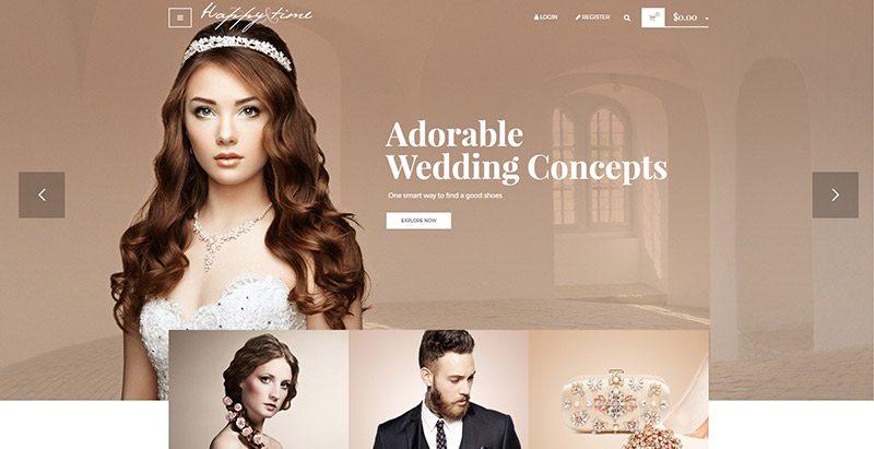 Happy time themes wordpress creer site ecommerce vente bijoux