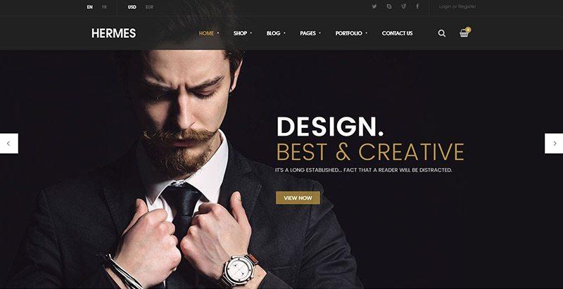Hermes themes wordpress creer site ecommerce prêt a porter vêtements