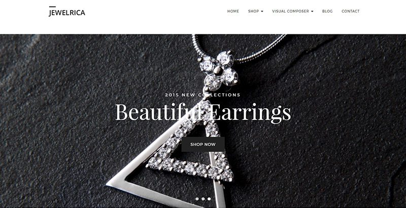 Jewelrica themes wordpress creer site ecommerce vente bijoux