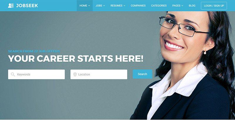 Jobseek meilleurs thèmes WordPress d'offres d'emploi