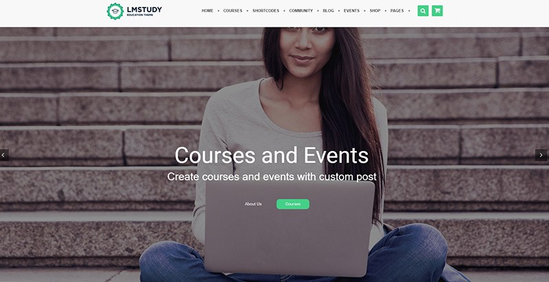 Lmstudy themes wordpress pour creer un site web educatif elearning formation