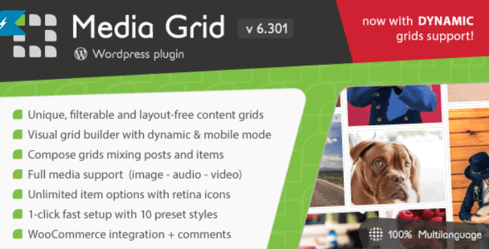 Media grid wordpress responsive portfolio
