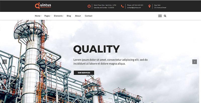 meilleurs thèmes WordPress de construction - Quintus themes wordpress creer facilement site web entreprise